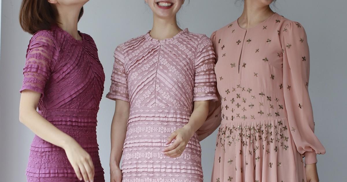 【30代女性向け】大人が着るピンクドレス